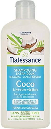 Natessance Champú (uso fréquent Coco/Keratina Vegetal: Amazon.es ...