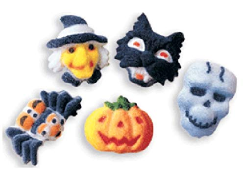 Halloween Pumpkin Decorated Cakes (Oasis Supply Edible Hand Painted Sugar Halloween Cupcake Toppers, 1