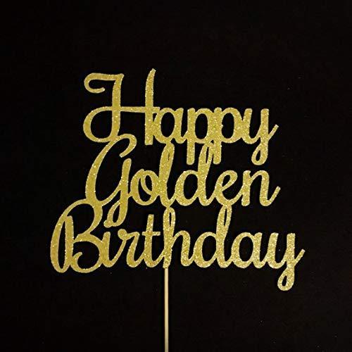 Brilliant Amazon Com Atelier Elegance Happy Golden Birthday Cake Topper Personalised Birthday Cards Epsylily Jamesorg