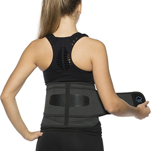 Modve Lower Back Lumbar Support Brace for Men and Women - Orthopedic Posture Corrector Brace Belt Design - Relieving Back Pain - Great for Employees at Work, Desk Jobs, Standing Jobs (S/M/L)