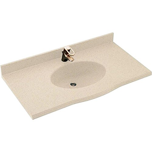 (Swanstone EV1B2243-040 Europa 43-Inch Solid Surface Vanity Top with Bermuda Sand)