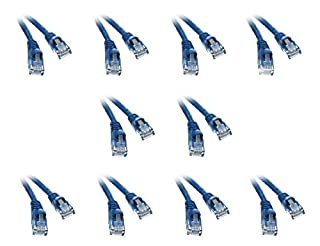 CableWholesale C&E Cat6 1-Foot Snagless/Molded Boot Ethernet Patch Cable, 10-Pack, Blue (CNE58310) (B00JDFHV9Q) | Amazon Products