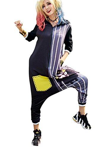 Harem Girl Costume Plus Size (bandi das Women's Jumpsuits Harem Hippie Hip Hop Halloween Costumes YYCO306204)