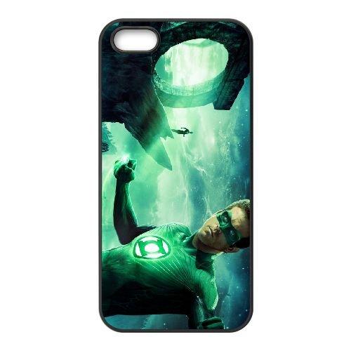 Green Lantern 010 coque iPhone 5 5S cellulaire cas coque de téléphone cas téléphone cellulaire noir couvercle EOKXLLNCD24139