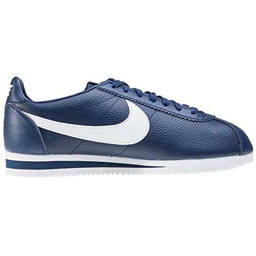 Nike Herren Classic Cortez Leather Laufschuhe Blau (Midnight Navy/White)