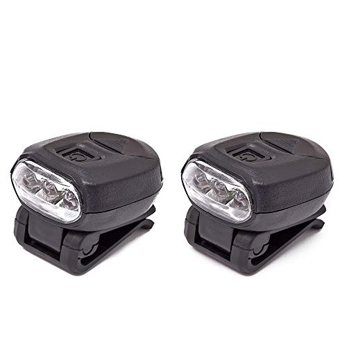 2pcs Fishing Cap Lamps Freehawk Hat Clip Headlamp 3 LED Hands Free Baseball Caps 360°Rotating 90°Adjustable Zoomable Light for Fishing Camping Hiking 2CR2032 3v (2pcs)