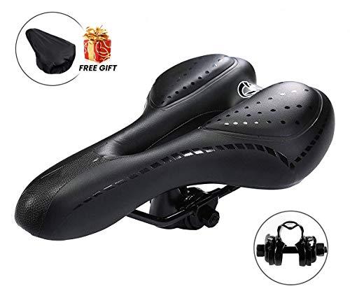 Charlemain Bike Saddle for Men Women, Professional Mountain Bike Seat Gel Cushion Saddle for MTB Bicycle Biking Cycling