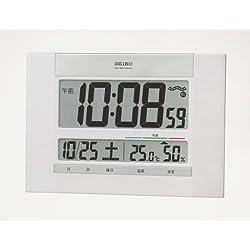SEIKO CLOCK ( Seiko clock ) wall clock table clock combined digital temperature display humidity display radio clock SQ429W
