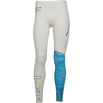 304f11868cbee Reebok Men's CrossFit Compression Tight Leggings Chalk (Medium Waist  32-34