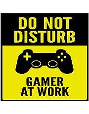 Do Not Disturb Gamer at work 24cm x 24cm sticker poster
