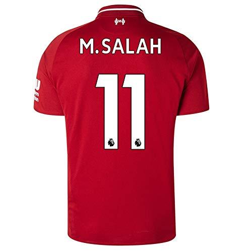 Liverpool 2018-2019 Home M Salah #11 Men's Soccer Jersey Color Red Sizs M