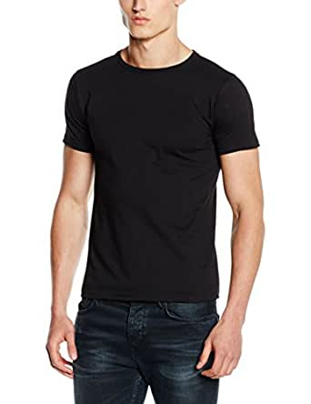 Fruit Of The Loom Mens Fitted Valueweight Short Sleeve Slim Fit T-Shirt (S) (Black)