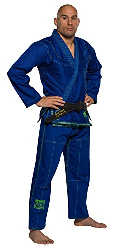 Fuji Suparaito BJJ GI Martial Arts Uniform, Blue, A3