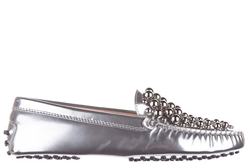 tods-womens-leather-loafers-moccasins-gommini-bolle-silver-us-size-75-xxw00g0p4401onb200