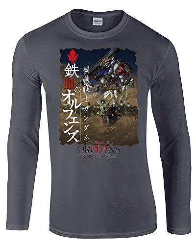 Mobile Suit Gundam Iron Blooded Orphans Anime Unisex Long Sleeve-Shirt Grey