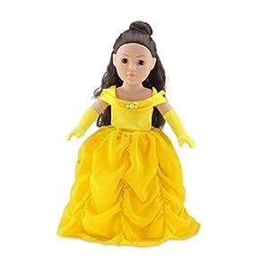 Amazon.com: 18 Inch Doll Clothes | Gorgeous Princess Belle