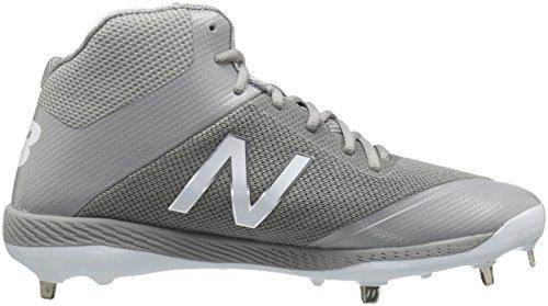 Nuovi Equilibrio Mens M4040v4 Grigio Scarpa Baseball Metallo
