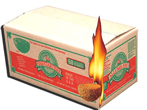 Lightning Nuggets N50VBOX Firestarters Box of Fire-Starting Nuggets, 50 Count (Kindling Starter Fire)