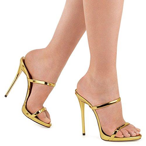 XUE Women's Shoes PU Summer Comfort Sandals Walking Shoes Stiletto Heel Pointed Heel Wedding/Party & Evening/Dress Sandals/Slippers & Flip-Flops Formal Business Work Wedding A T8iAgrS0W