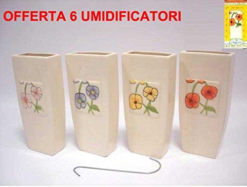Oferta 6 umidificatori Flores Radiador vaporizador cerámica humidificadores Estufa Calefactor: Amazon.es: Hogar