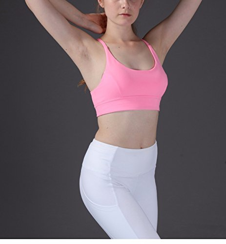 Sleep Yoga Reggiseno Antiurto Raccogliere Garza Fitness Sport Intimo Xxszkaa Rosa Traspirante Awq6wU