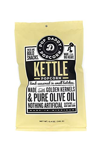 Pop Daddys Gourmet Flavored Popcorn - Premium Kettle Corn - 3 Pack
