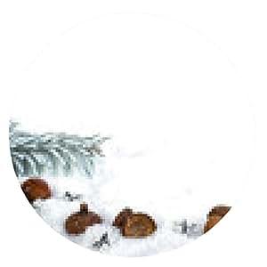 alfombrilla de ratón ramas de abeto bellotas Schneesterne - ronda - 20cm