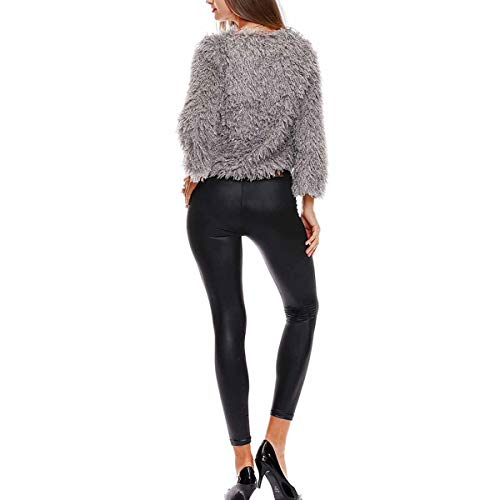Pull en Pull Hiver Fourrure Fausse Femme AzgqAF