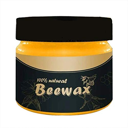 Wood Seasoning Beeswax Beeswax Polish for Wood & Furniture Natural Unscented Beeswax Furniture Wood Polish and Conditioner, 85g (1PC)