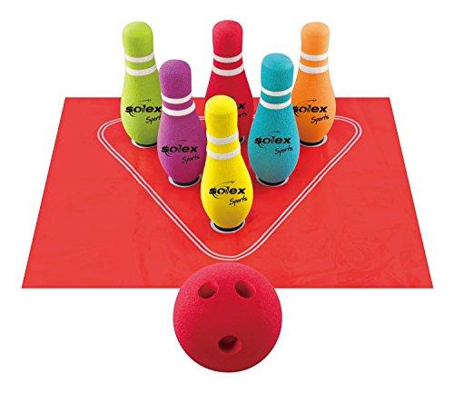 Solex Schaumstoff Bowling Set, Bunt, One size, 49801