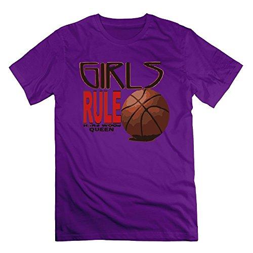 - Richard Lyons Men's Basketball Rule Hardwood Queen Vintage Tee Purple M