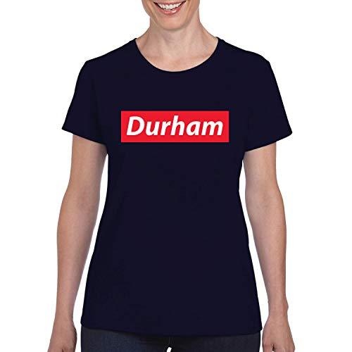 Red Box Logo Durham City Pride Womens Graphic T-Shirt, Navy, Small -