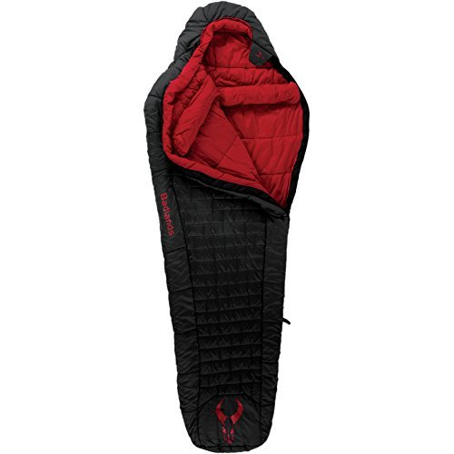 Badlands Cinder Synthetic Sleeping Bag with Soft Fabric for Comfort in Extreme Conditions - 10 Long by Badlands