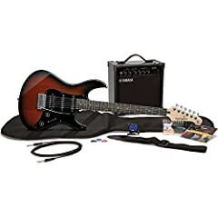 Yamaha's complete electric guitar package. Sporting the PAC012 electric guitar with a 15-watt Yamaha amp, this package rocks. Included in the package is everything you need to get started playing today. Includes the Yamaha's Pacifica 012 in O...