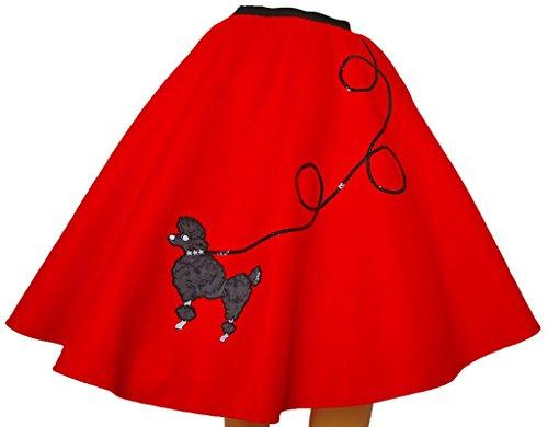 [3 BIG NOTES - Adult FELT Poodle Skirt Size XL (40