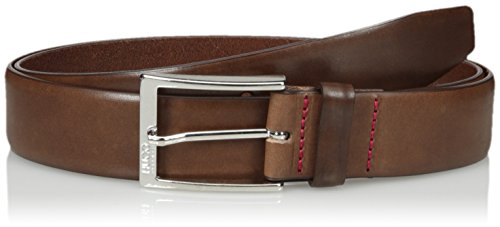 Boss Hugo Boss Men's C-gerron-n Leather Belt, medium brown, 36 US - 95 EU