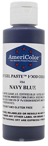 Americolor Soft Gel Paste Food Color, 4.5-Ounce, Navy Blue