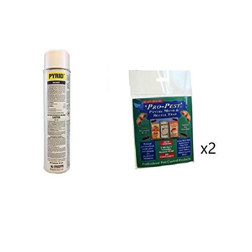 Pantry Pest Control Kit with Pyrid Aerosol (2) Pro Pest Pantry Pest Traps