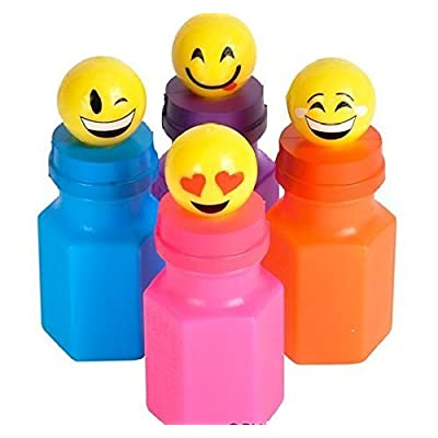 Emoji Bubble Bottles (Package of 24): Toys & Games