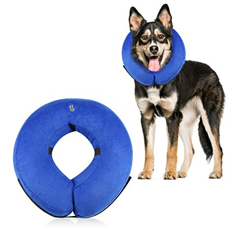 - Dog Cone Collar Soft - Soft Pet Recovery E-Collar Cone Small Medium Large Dogs, Designed to Prevent Pets from Touching Stitches