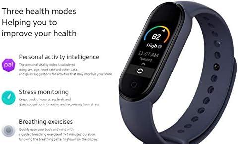 Xiaomi Mi Smart Band 5 (2020) Pantalla a color AMOLED de 1,1 pulgadas, pulsera impermeable IP68 BT 5.0 Fitness, Sleep, frecuencia cardíaca 24/7, deportes, natación, rastreador de salud (modelo global, negro) 7