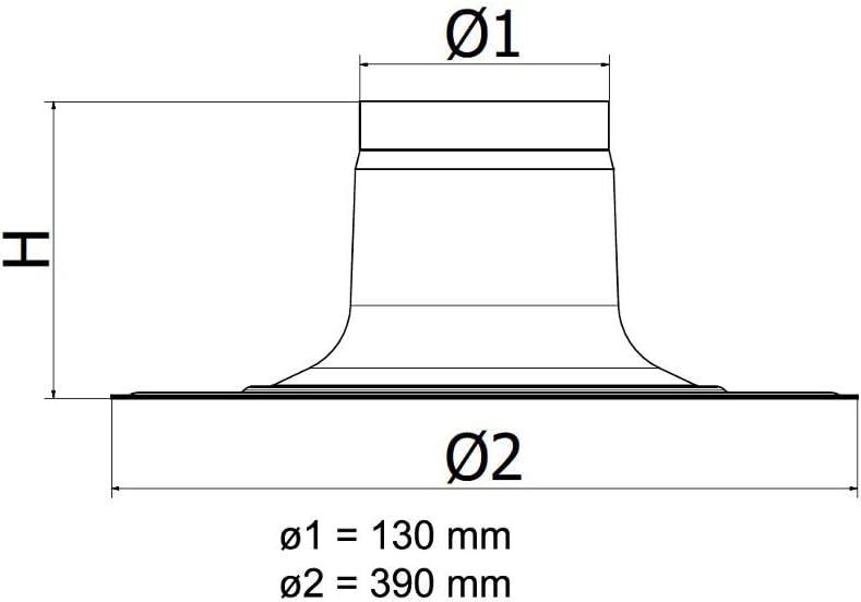 Flachdachpfanne DN 60//100-80//125 Universal Abgaszubeh/ör Formteile Brennwertkessel