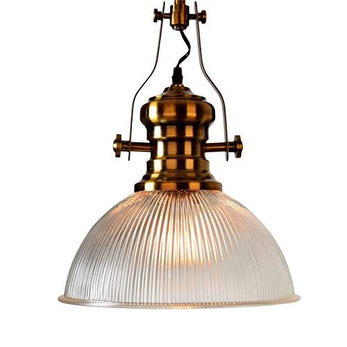 HYYK Glass Pendant Lights Vintage Industrial Ceiling Light Adjustable Indoor Lighting Fixture for Dining Room Kitchen Restaurant