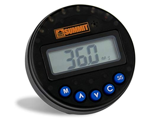 Summit Tools Digital Angle Gauge [AM-BN], LCD Display 1-360° Angle Measurement Range, Sequential LED and Buzzer Notification, Peak and Track Modes
