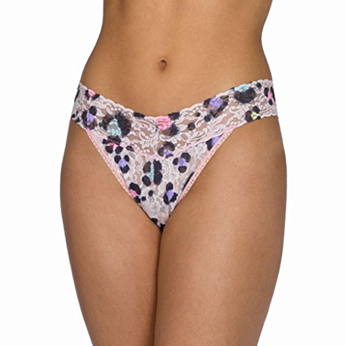 Hanky Panky Womens Original Rise Thong in Inky Leopard Size One Size