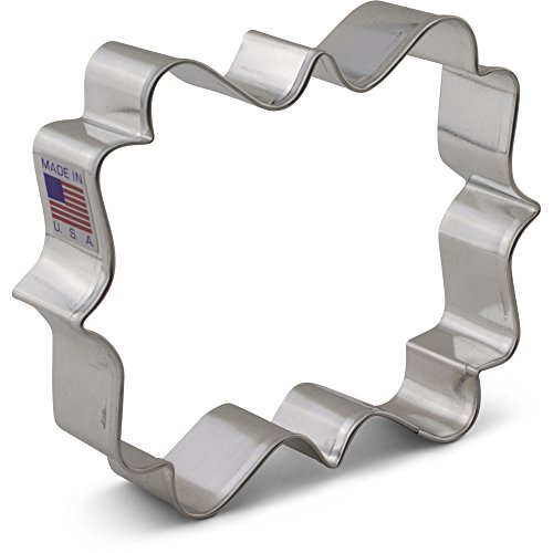 (Square Plaque/Frame Cookie Cutter by LilaLoa - 4 Inches - Ann Clark - US Tin Plated Steel)
