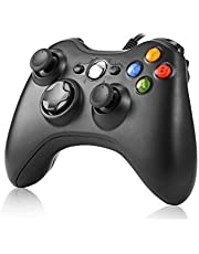 Game Controller,Rottay USB Game Controller Wired Gaming Gamepad with Shoulders Buttons Joypad for Microsoft Xbox 360 & Windows PC (Black)