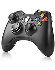 وحدة تحكم العاب، وحدة تحكم العاب USB روتاي مع ازرار على الجزء العلوي، لوحة تحكم العاب لاجهزة مايكروسوفت Xbox 360 وكمبيوتر يعمل بنظام ويندوز اسود