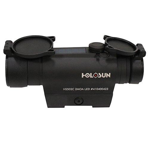 HOLOSUN Red Dot Sight 1x 30mm Tube 65 MOA Circle with 2 MOA Dot Weaver-Style