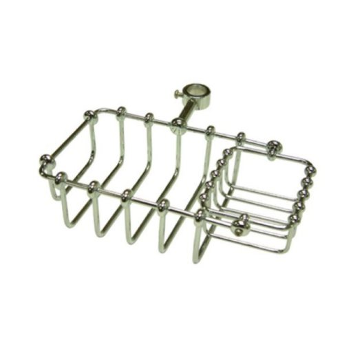 KINGSTON BRASS CC2141 7 Riser Mount Soap Basket for Claw Foot Tubs, Polished Chrome